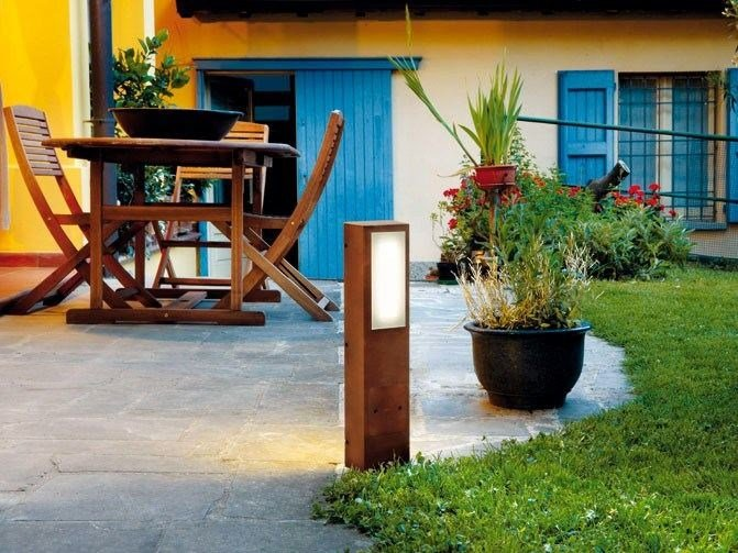 LED technopolymer bollard light KIT-04 STILE NEXT POST by Lombardo