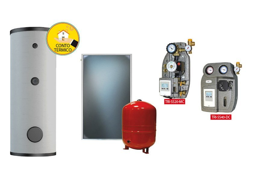Boiler for solar heating system KIT TRIENERGIA ACS ISY by Trienergia