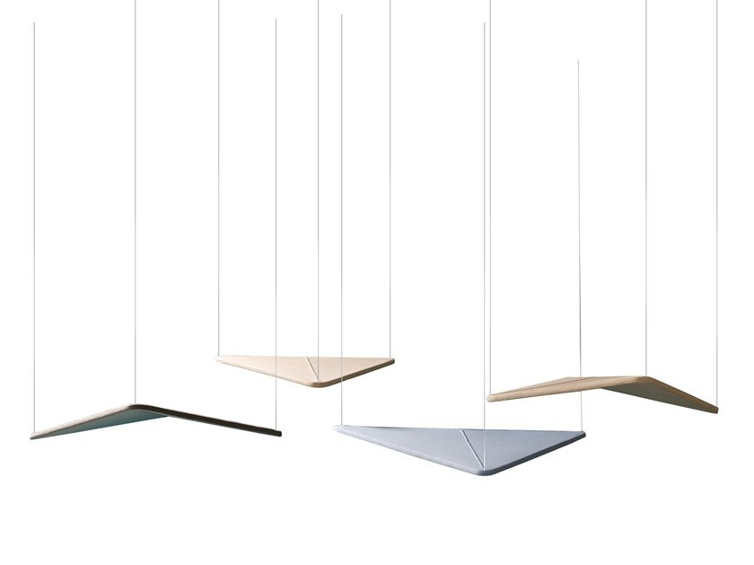 Fabric acoustic ceiling clouds KITE | Hanging acoustic panel by ESTEL GROUP