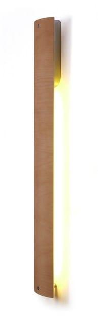 Applique a LED a luce diretta in rattan KITO VERTICAL | Lampada da parete by luxcambra