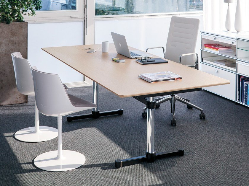 Lacquered rectangular MDF meeting table UMS KITOS M MEETING by USM