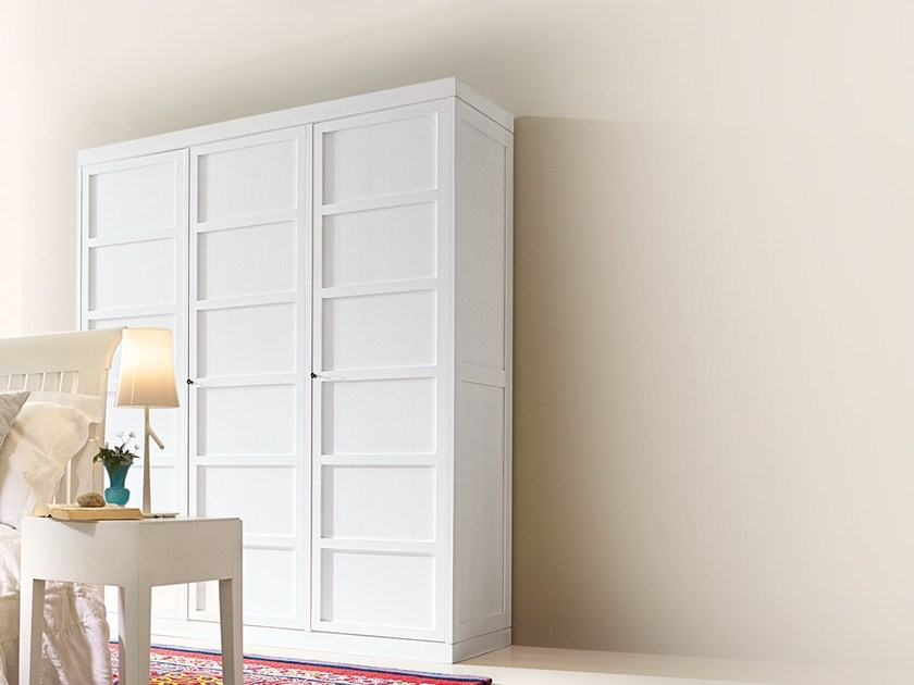Lacquered wooden wardrobe KL 6338/3 by MARKTEX