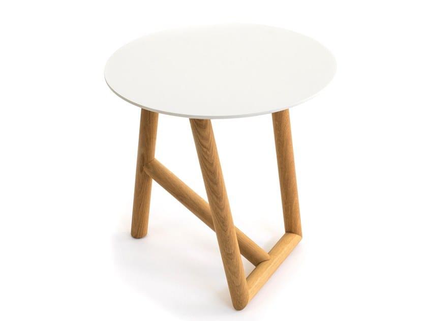 Tavolino rotondo in legno KLARA | Tavolino by Moroso