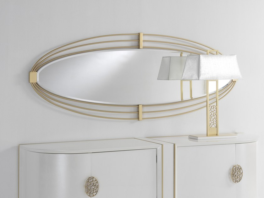 Oval wall-mounted framed mirror KLASS | Oval mirror by Muebles Canella