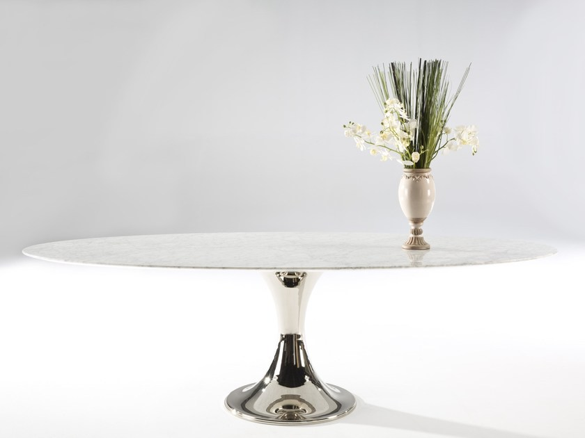 Oval marble table KLASS | Oval table by Muebles Canella