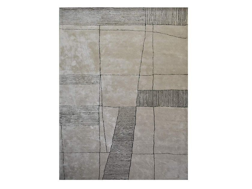 Rectangular rug with geometric shapes KLEE by Adriani e Rossi edizioni