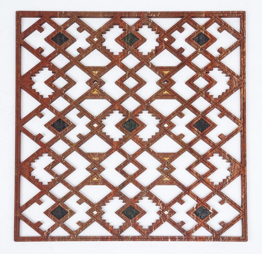 Travertine Decorative panel KILIM by MANEDA