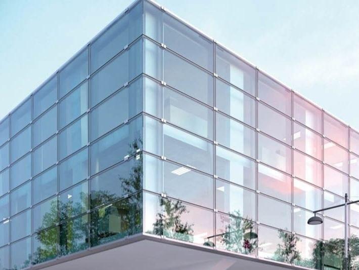 Sistema per facciate in vetro a fissaggio puntuale KLIMA by FARAONE