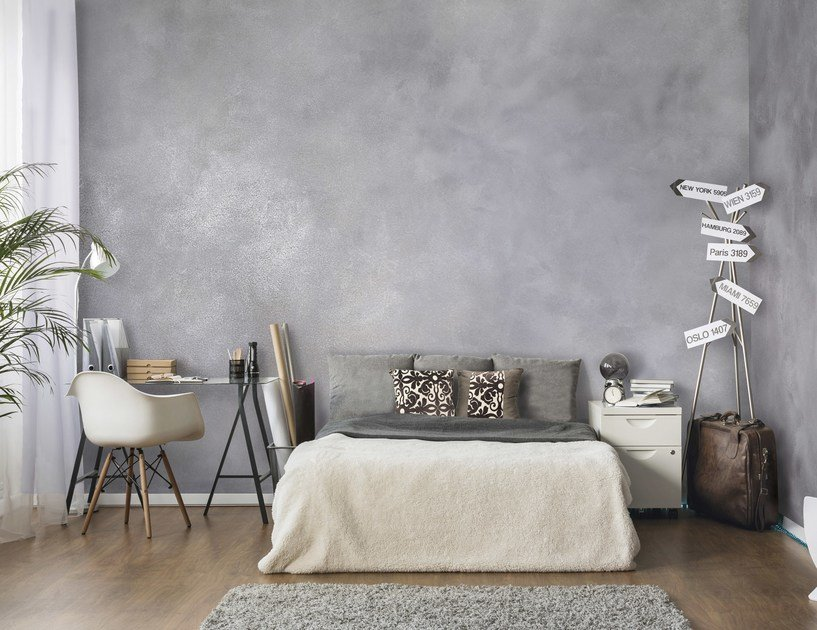 pittura decorativa all 39 acqua ad effetto metallizzato klondike light by valpaint. Black Bedroom Furniture Sets. Home Design Ideas