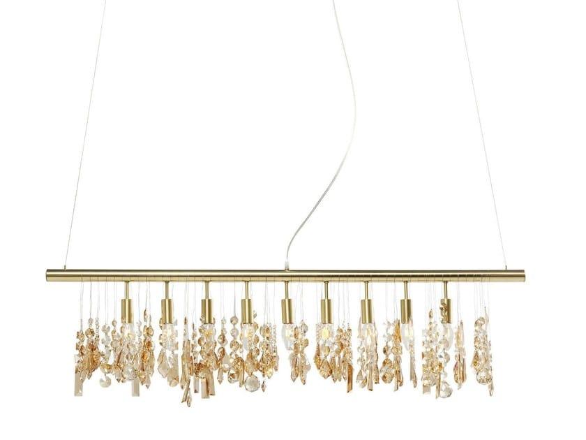 Steel pendant lamp KLUNKER DELUXE BRASS 120 by KARE-DESIGN