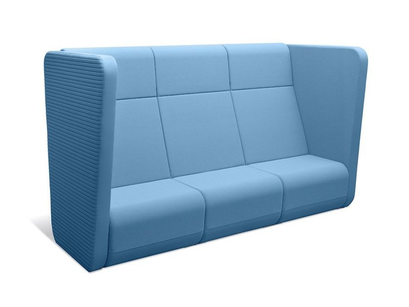 3 seater high-back sofa MEETING PORT KM3/BR-01 by LD Seating