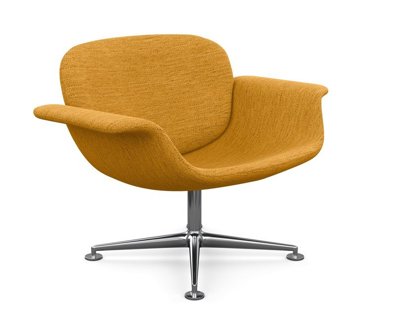 Swivel fabric easy chair with armrests KN01 | Fabric easy chair by KNOLL