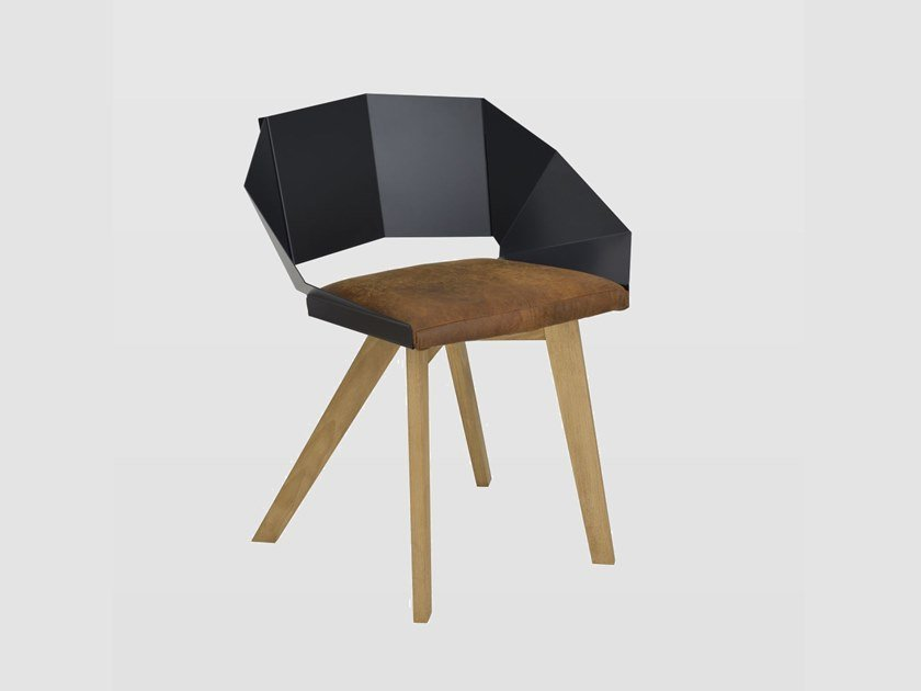 Chair with integrated cushion KNIGHT | Chair by Gie El Home