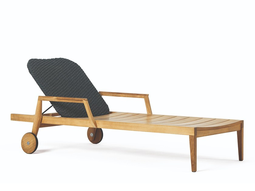 Recliner teak garden daybed KNIT | Garden daybed by Ethimo