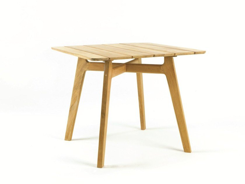Square teak garden table KNIT | Square table by Ethimo