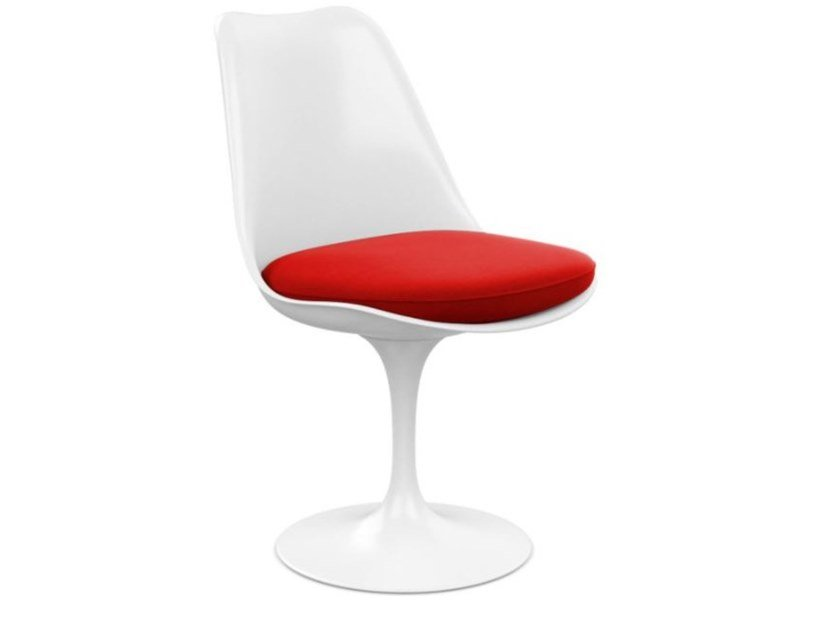 Glass-fibre chair with integrated cushion KNOLL - TULIP | Chair by Archiproducts.com