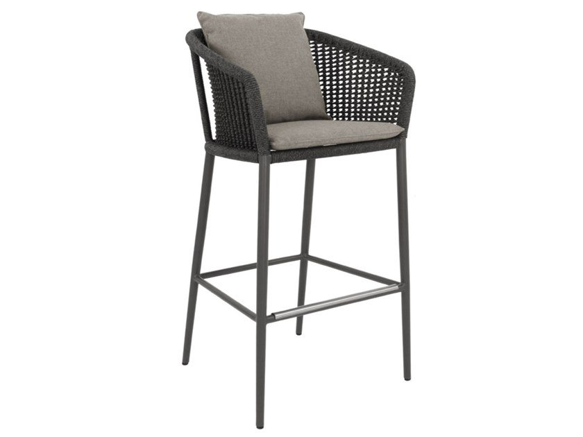 Olefin rope barstool with armrests KNOT | Barstool by JANUS et Cie