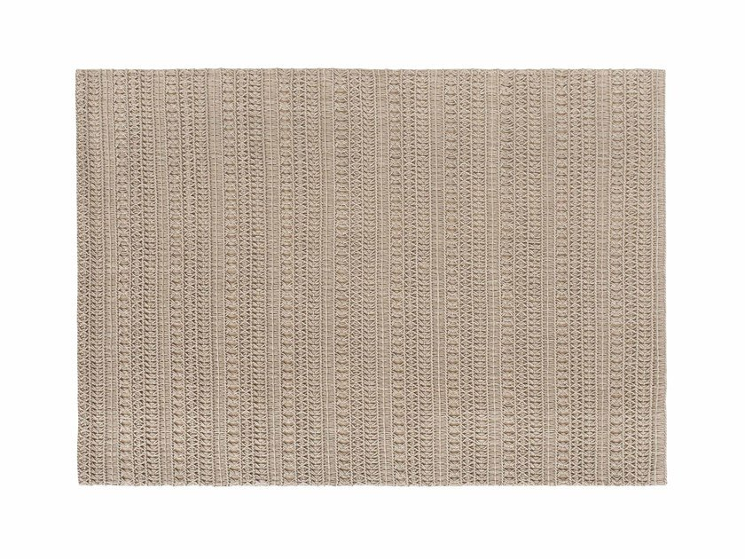 Solid-color rectangular wool rug KNOTWORK by GAN