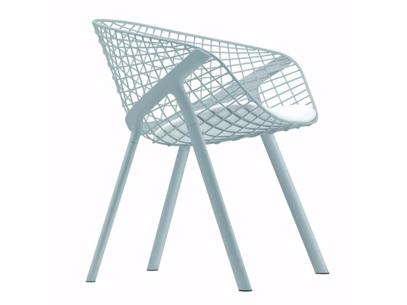 Garden chair with armrests KOBI CHAIR - 040_O by Alias