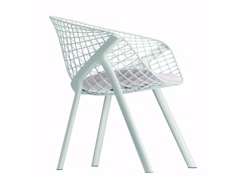 Garden chair with integrated cushion KOBI LOUNGE - 045_0 by Alias