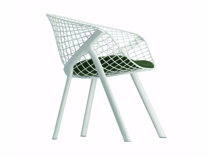 Steel chair with armrests KOBI LOUNGE - 045 by Alias