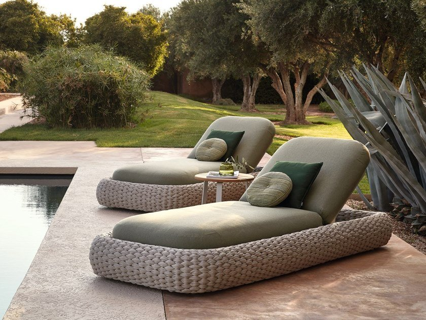 Recliner rope garden daybed KOBO | Garden daybed by MANUTTI