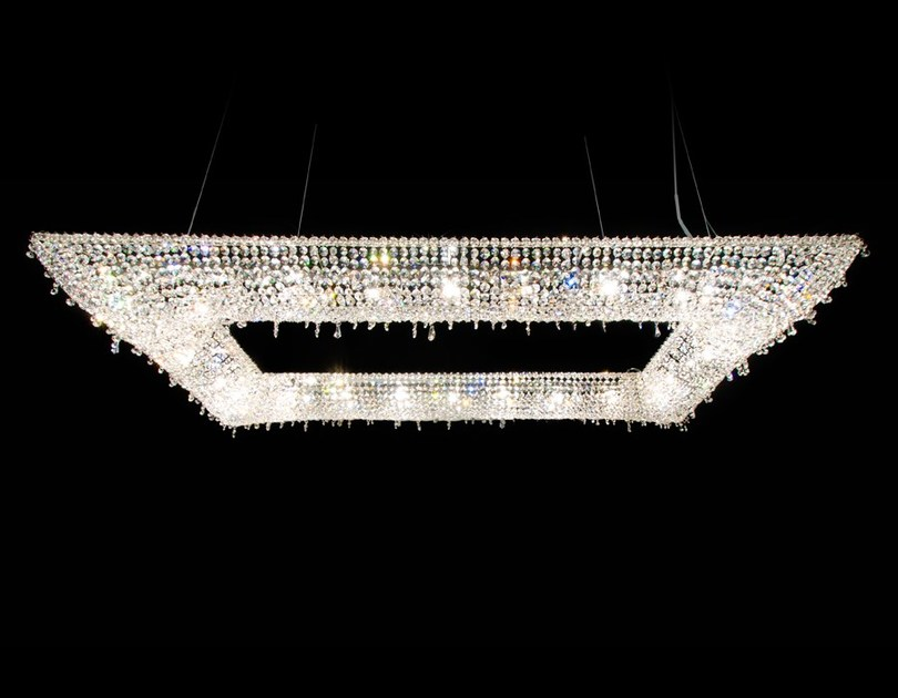 Halogen crystal pendant lamp KOI | Crystal pendant lamp by Manooi