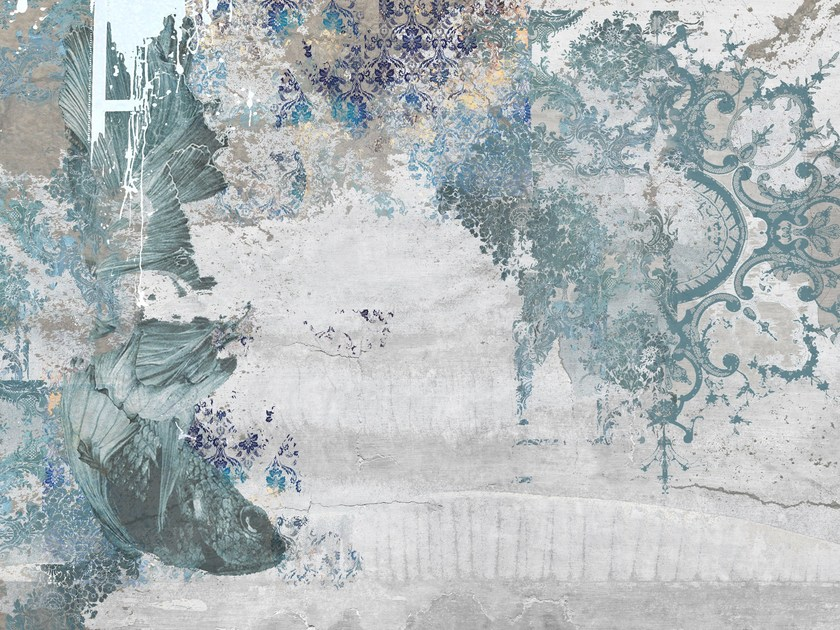Nonwoven wallpaper KOI by Tecnografica Italian Wallcoverings