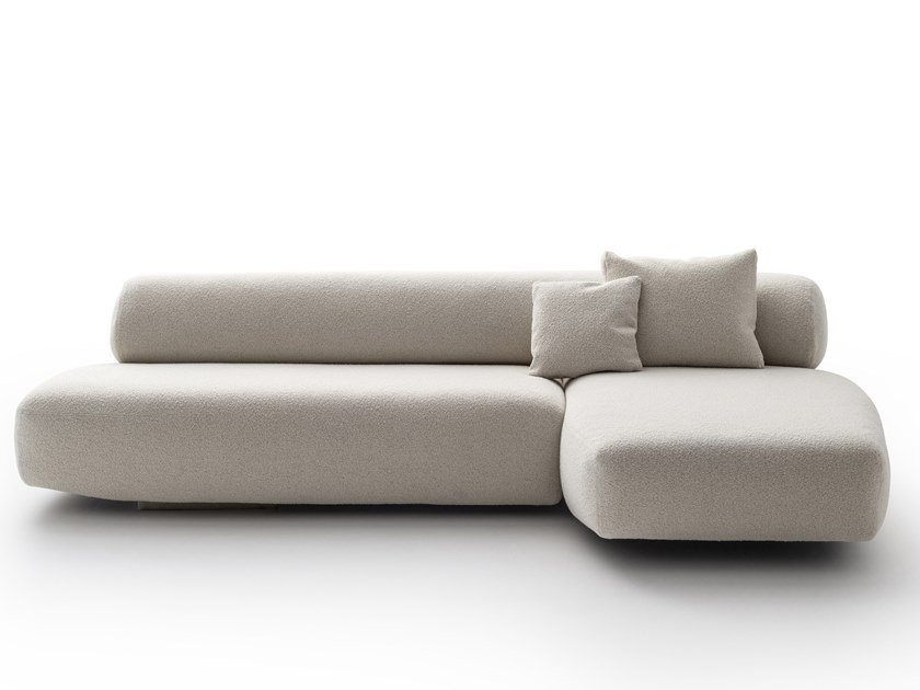 Sectional fabric sofa with removable cover GOGAN by Moroso