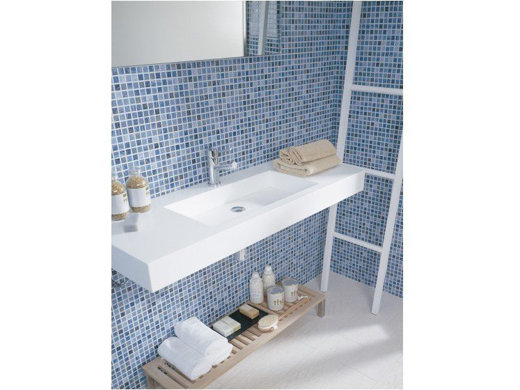 Wall-mounted Krion® washbasin KOLE | Krion® washbasin by Systempool