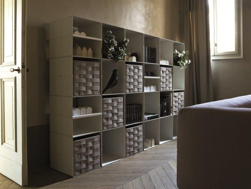 Sectional modular steel bookcase KOLTA by Verzelloni