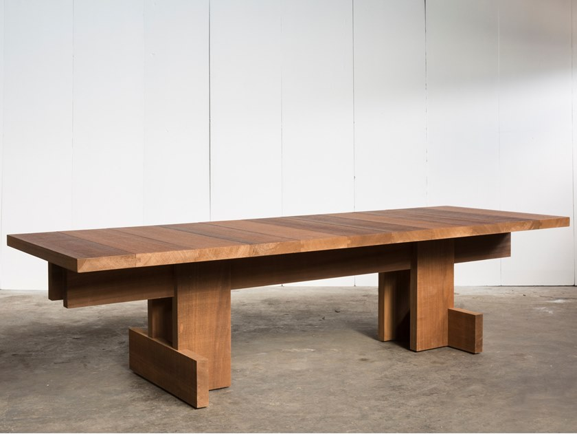 Rectangular wooden table KOMBINAT by Heerenhuis