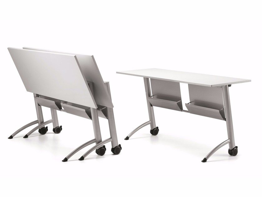 Modular folding MDF bench desk with casters KOMBY 937 by TALIN