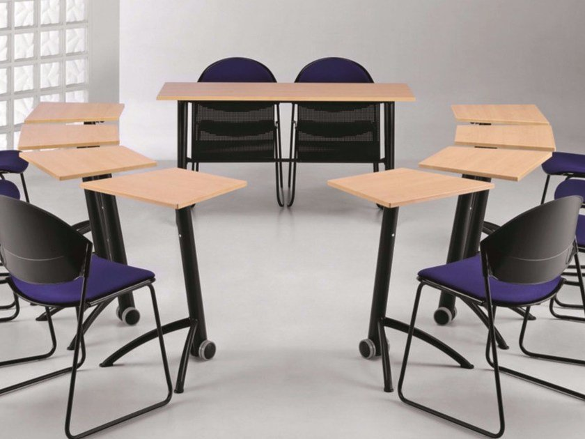 Folding MDF bench desk with casters KOMBY 935 by TALIN