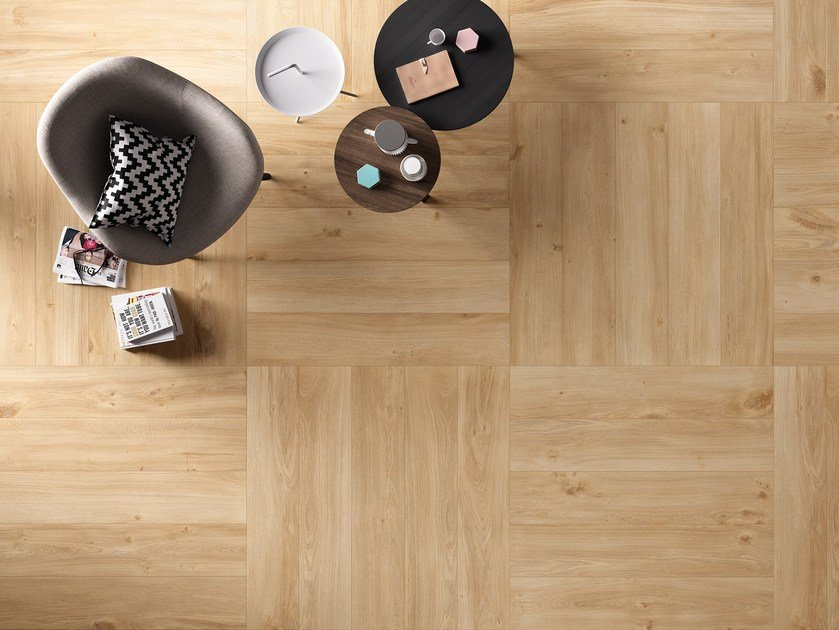 Porcelain stoneware wall/floor tiles with wood effect KOMI ORIGINAL by CERAMICA FONDOVALLE