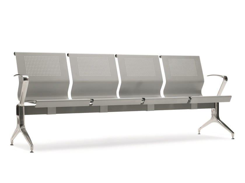 Freestanding steel beam seating KONE | Beam seating by Emmegi