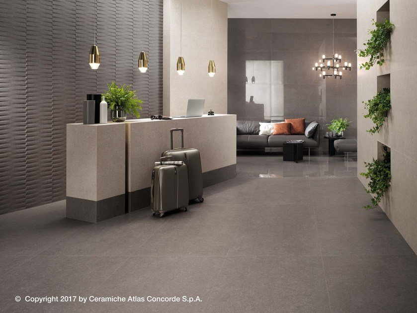Porcelain stoneware flooring with concrete effect KONE FLOOR | Flooring by Atlas Concorde