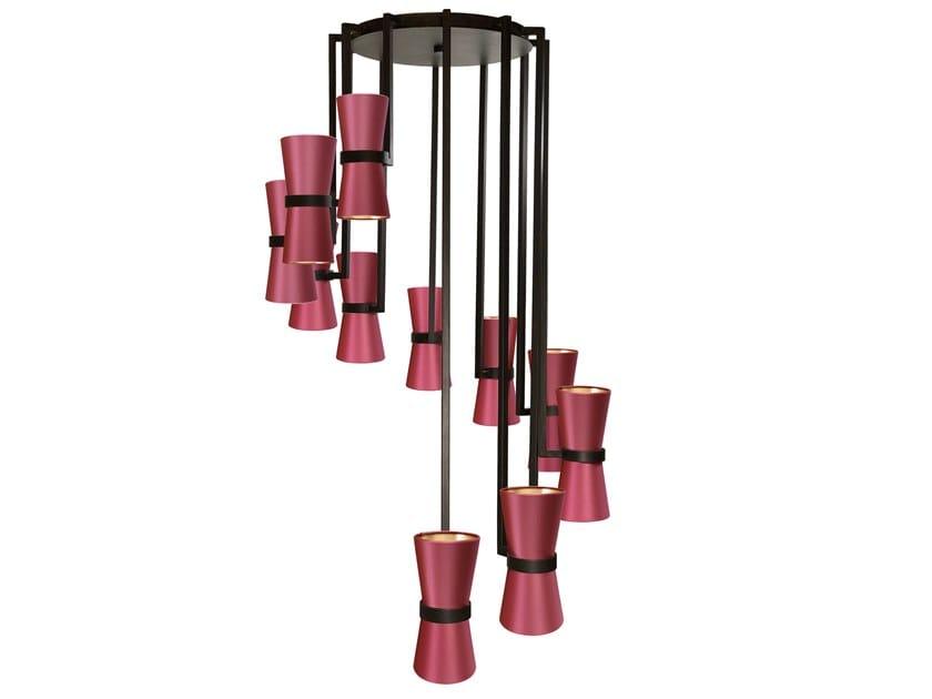 Lampada a sospensione fatta a mano in metallo KONO | Lampada a sospensione by Abrissi