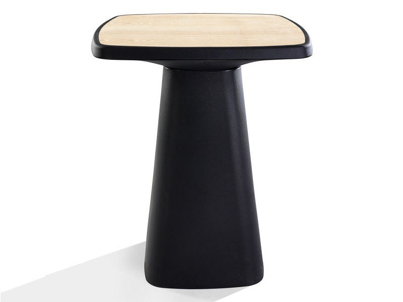 Square polyethylene high table KONO | High table by Derlot Editions