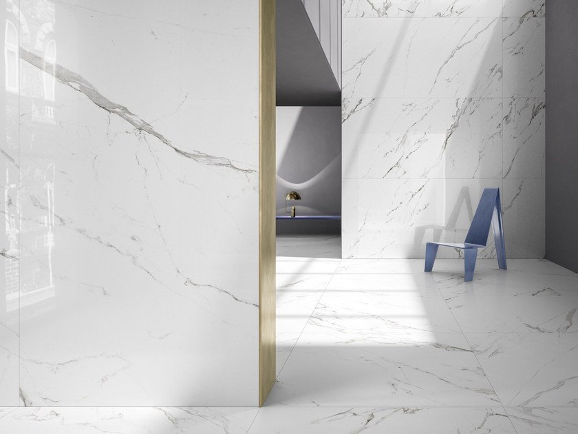 Wall/floor tiles with marble effect KONTINUA by Casalgrande Padana