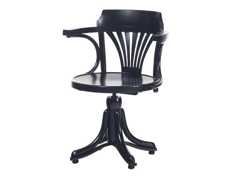 Swivel wooden chair with 4-spoke base KONTOR   Chair with 4-spoke base by TON