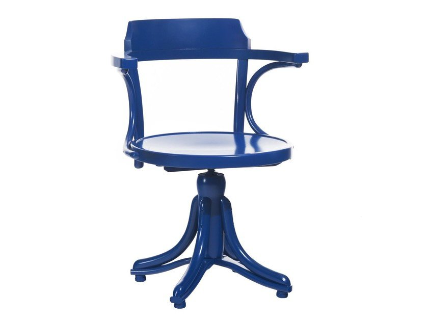 Swivel wooden chair KONTOR | Wooden chair by TON