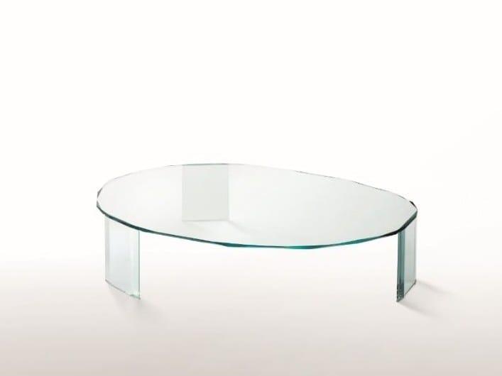 Low oval crystal coffee table KOOH-I-NOOR | Coffee table by Glas Italia
