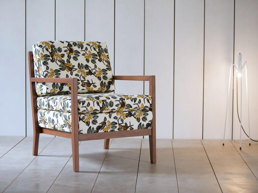 Upholstered armchair with armrests KORA BEECHWOOD | Armchair by Kann Design