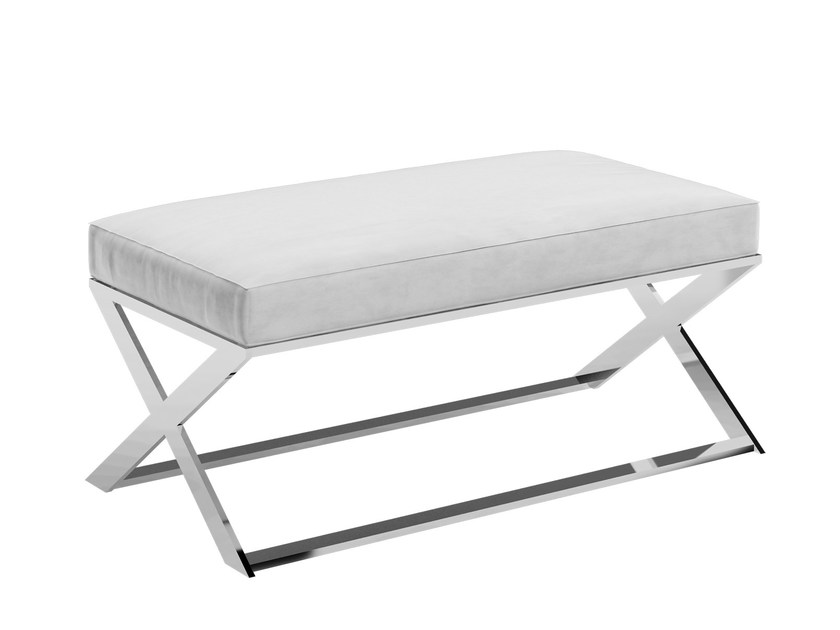 Upholstered leather bench KORAL by Capital Collection