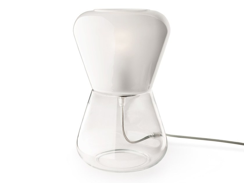 Handmade Murano glass table lamp KORO | Table lamp by Veronese