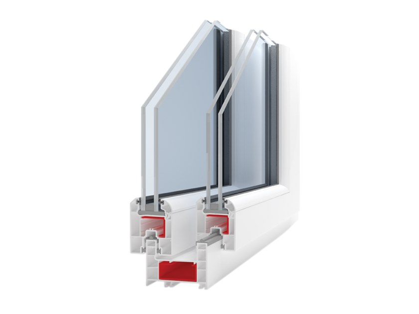 PVC double glazed window KORON LIGHT by Ital-Plastick
