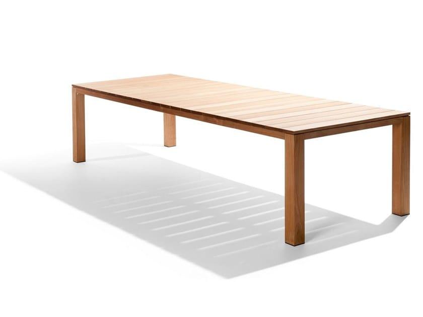 Tribu Mobili Giardino.Tavolo Da Giardino Rettangolare In Teak Kos Tavolo