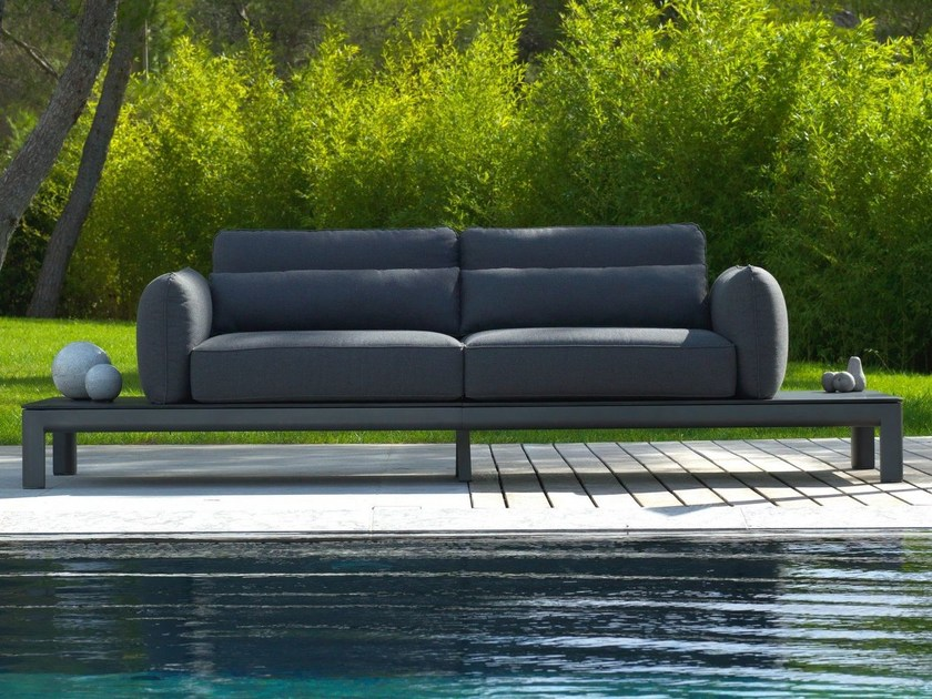 Fabric sofa with removable cover KOTON | Sofa by Les jardins