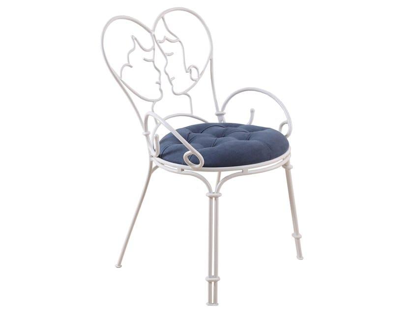 Metal chair with armrests KOVINA by ALANKARAM
